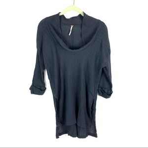 Anthropologie Free People Cowl Neck Tunic Top